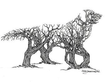 Golden Re-Tree-Ver 8.5x11 Giclee Print
