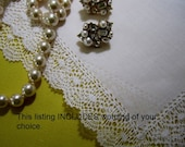Just for your Mother-in-Law to be, Personalized, premium, elegant bridal hankie gift, Handmade Bobbin Lace - Hankerchief Gift Boxed
