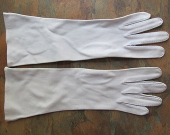 Vintage Pale Blue or Lavender Stretch Nylon Ladies Opera Gloves - 13 Inches Long (E036)