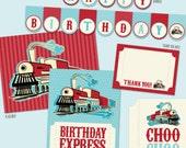CHOO CHOO Train Printable Custom Birthday Party Package