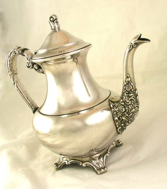 Vintage Wm A Rogers Silverplate Hollowware Tea Coffee Pot OHS222 - Free USA Shipping