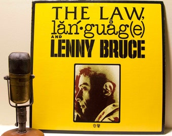 "ON SALE Lenny Bruce Spoken Word Vinyl Record Album 1960s Influential Comedian Social Critic ""The Law, Language and Lenny Bruce""(Orig. 1974 W"