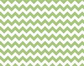 Riley Blake Small Chevron fabric in Green, C340-30 -- 1 yard, in stock