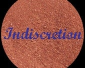 Mineral Makeup...INDISCRETION...Medium Brown w/Blue Sparkles. 5g. Beautiful neutral shade by BRAZEN COSMETICS. Loose Shadow. Vegan.
