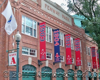 Fenway Park Boston -Go RED SOX!  8x10 Matted Boston Sites Photograph - Boston Red Sox