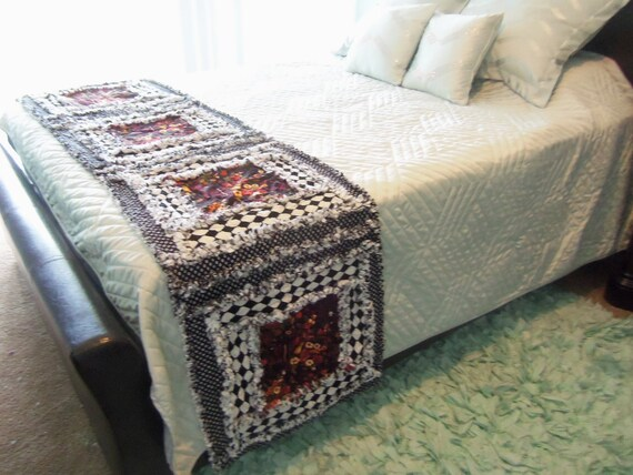 mackenzie childs inspired bed runner king size by dmaeredesigns. Black Bedroom Furniture Sets. Home Design Ideas