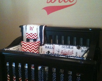 Custom Crib Bedding You Design   in  Sports