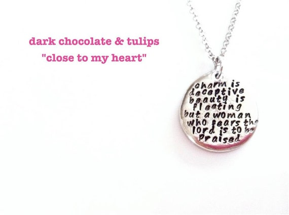 NEW-Just Say It...Hand Stamped Pewter Neckalce