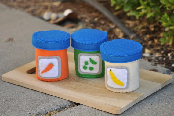 Doll Accessory Baby Felt Food Jars Reserved for Jessica