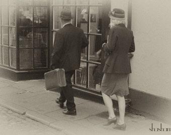 Stepping back in time 8x12 sepia fine art photo print