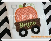 pretty fun for fall pumpkin wagon shirt
