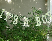 Its A Boy Banner, Baby Shower Banner, Baby Shower Garland, Photo Prop - READY TO SHIP