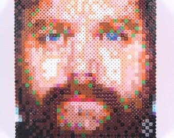 Mini Perler Portrait - Zach Galifianakis