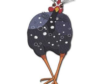 Guinea Fowl -  Guineafowl 3.- Machine embroidery design
