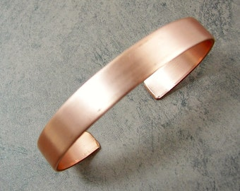 Copper Cuff Bracelet Blank - Copper Cuff for Stamping - Bracelet Blank Ready to Work