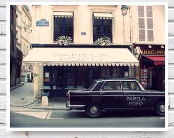 "French Trendy ""Pamela Popo"" Restaurant, Fine Art Photography 8x10, 60's- 70's Vintage inspire retro photo Unisex Gift"