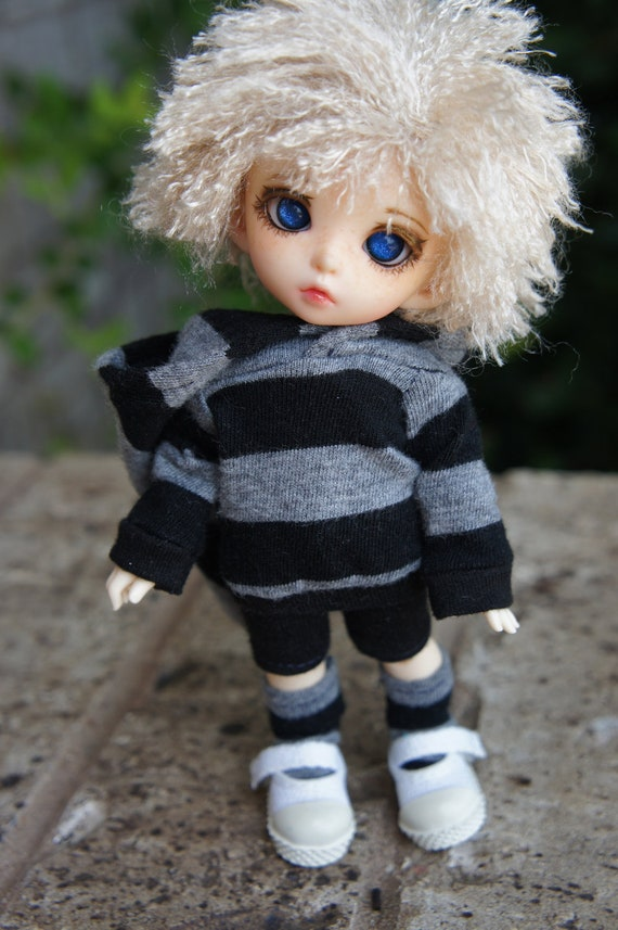 Black and Gray Casual Set for Pukifee/Lati Yellow