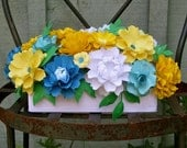 Centerpiece  - Handmade Paper Flowers - Made to Order - Customize your style and colors