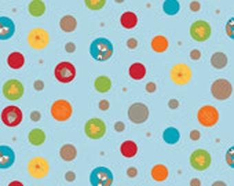 Riley Blake Designs Fox Trails Blue Fabric - 1 yard