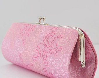 Nature Elements in Candy Pink ..Small Clutch Purse