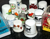 Thimbles Lot Vintage Souvenir Collectible