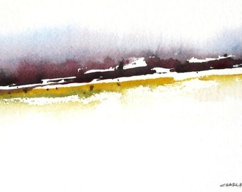 Mountain Foothills - Original Watercolor Painting