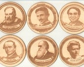 Science Pun Coasters (set of 6)