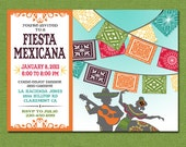 Print Yourself Mexican Fiesta Invitation, Custom Printable Party Invite for Birthday, Barbecue, Shower