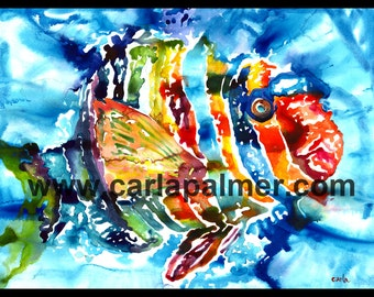 Fish Tropical Watercolor