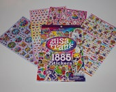 Lisa Frank Sticker Book - 1,885 stickers 12 pages