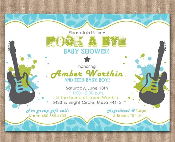 Rock A Bye Baby Shower Invitations as best invitation ideas