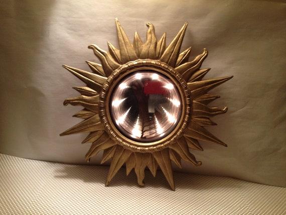Vintage Gold Sunburst Infinity Wall Mirror Amp Light 1970 S