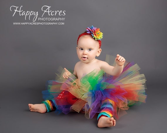 CLOWN/ CARNIVAL/ RAINBOW  tutu....newborn tutu, baby tutu....Birthday girl tutu, clown costume, or photography prop