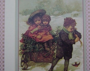Vintage Victorian Christmas Card