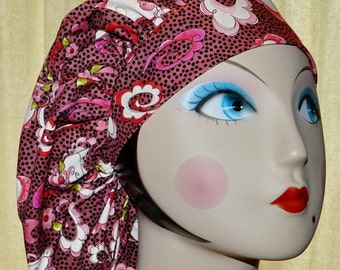 Funky Paisley Banded Bouffant Surgical Cap