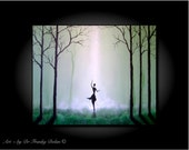 The Spirit Dances. Canvas Hand Embellished Original Matted Painting-Print by Fae Factory Visionary Fine Artist Dr Franky Dolan (Wall Art)