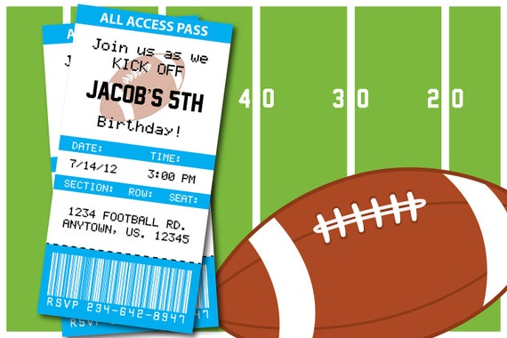 Items Similar To Football Themed Birthday Party Or