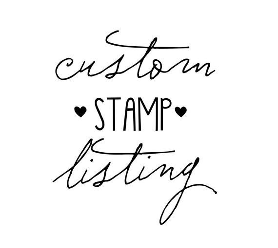 "Custom Order for Robin- ""homemade"" stamp- Priority Mail Shipping"