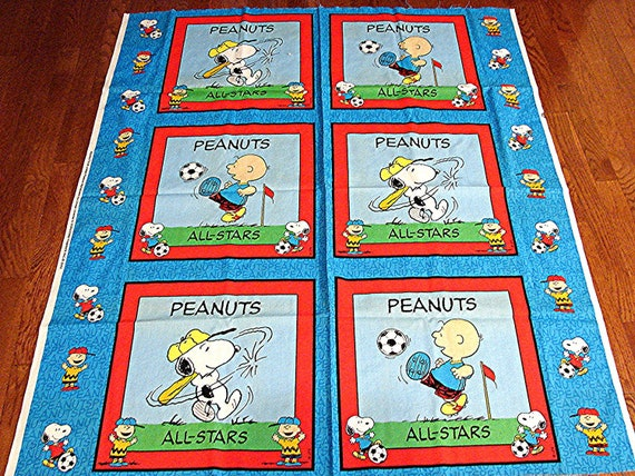 6 Peanuts Fabric Panels Pillows Charlie Brown By
