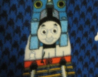 Thomas the Tank Engine with Red Handmade Fleece Blanket - Ready to Ship Now