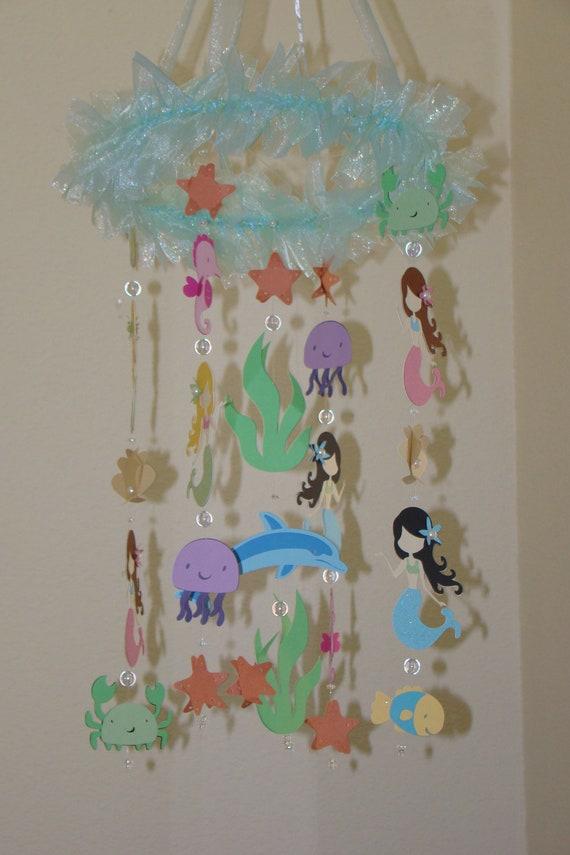 Under the sea mermaid nursery : Small version mermaid sea creature ocean themed by magicalwhimsy