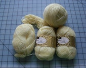 FREE SHIPPING! 5.8 oz Total Weight - 50/50 Mohair and Orlon Acrylic Yellow Yarn, Vintage Sears and Roebuck Co.