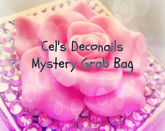Cel's Deconails jewelry grab bag, small size, Christmas gift, stocking stuffer