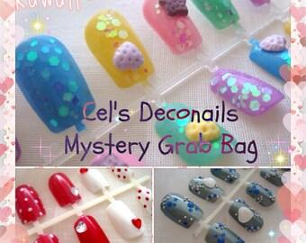 Japanese nail art grab bag, small size, gyaru nails, harajuku nails