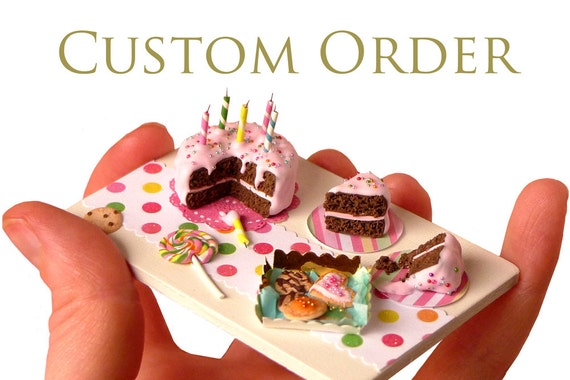 RESERVED - Custom Order 1/12 scale dollhouse miniature