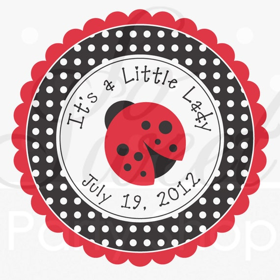 Ladybug Party Favor Stickers Thank You Stickers Party
