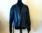 Leather Moto Jacket - M
