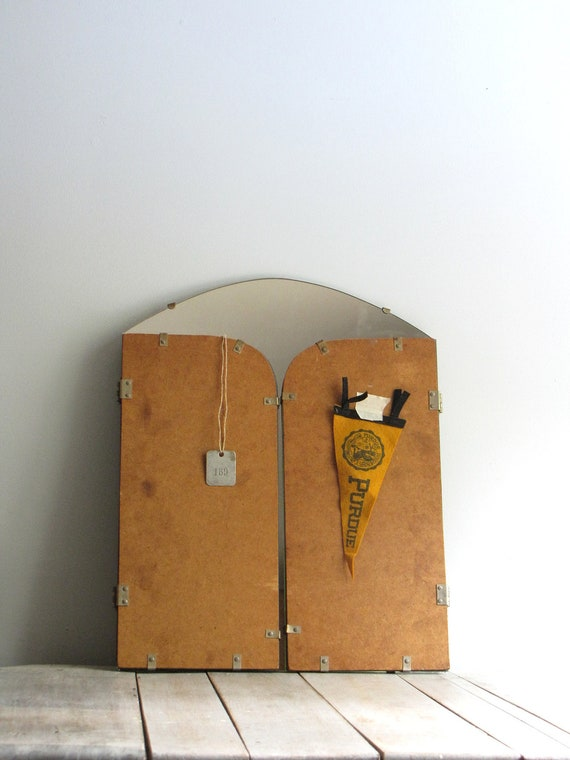 Reserved for fary          vintage trifold wall hanging mirror