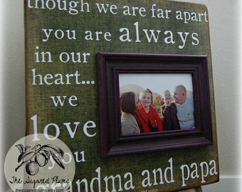 Grandparents Gift Personalized Picture Frame Custom 16x16 Family Grandparents Gift Established Christmas Gift
