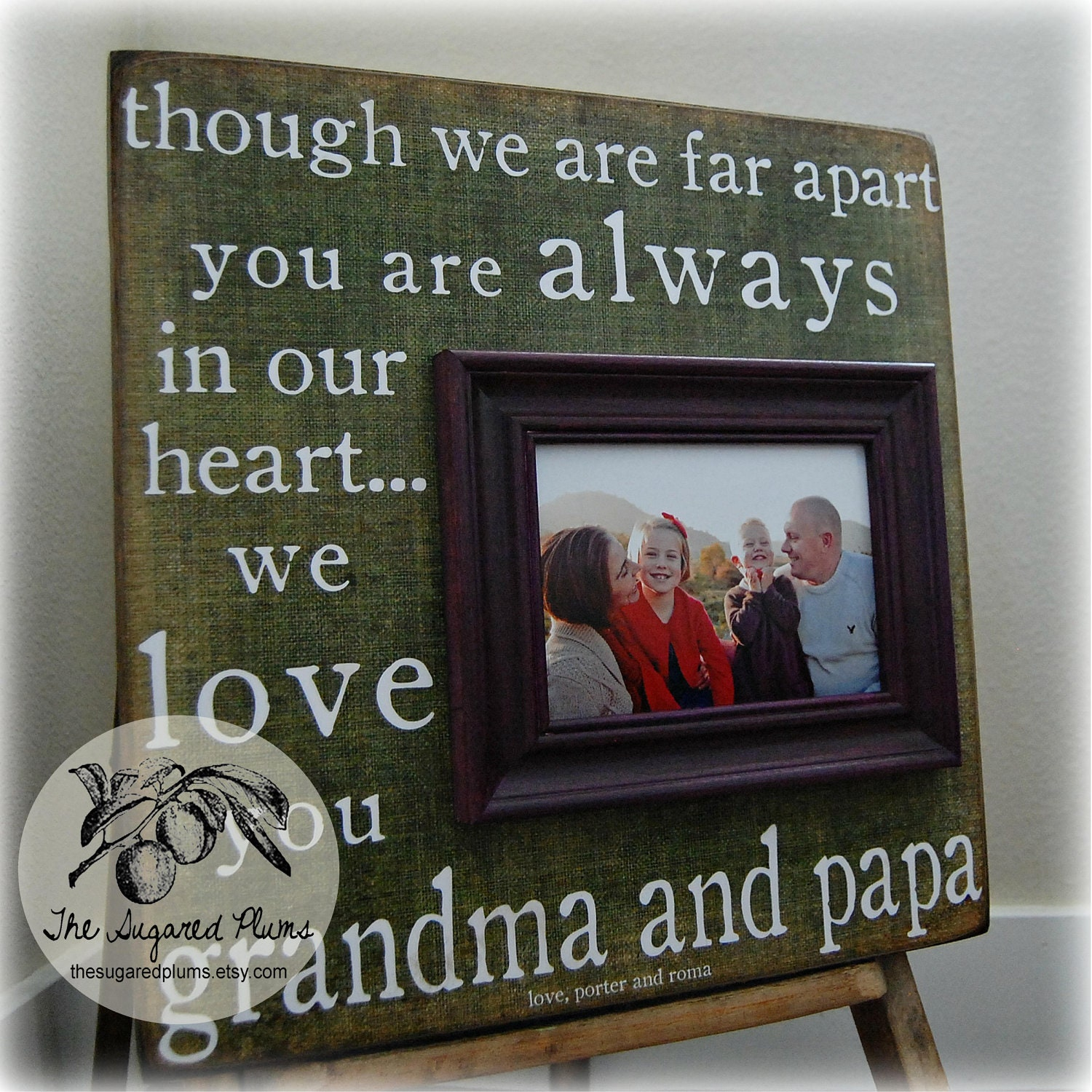 Grandparents Gift Personalized Picture Frame Custom 16x16